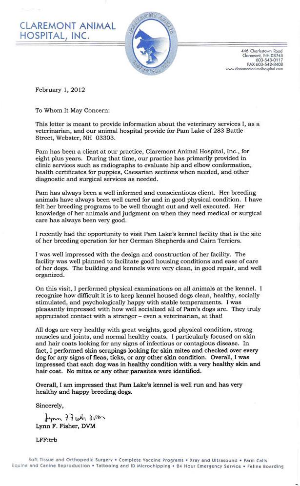 2012 Vet Letter